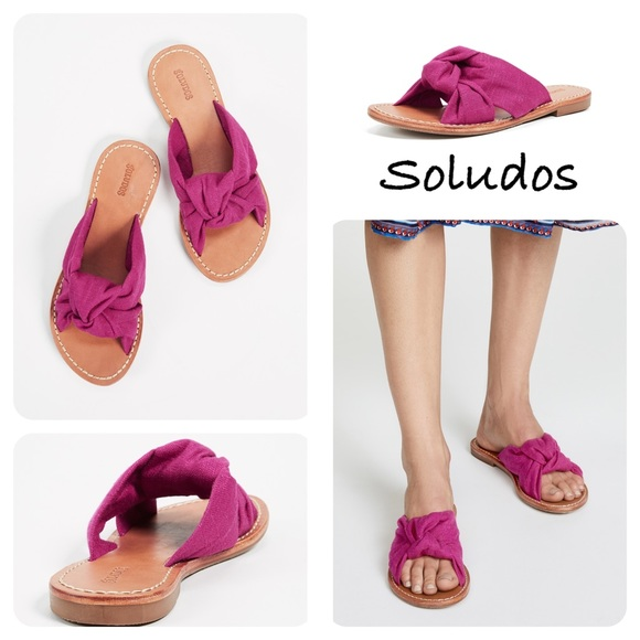 960ad2ad7530 Soludos Women s Knotted Slide Sandals